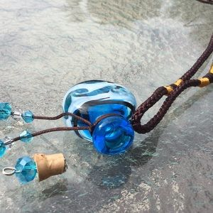 Jewelry - Cremation necklace Murano glass